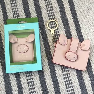 Kate Spade Year of the Pig phone pocket wallet